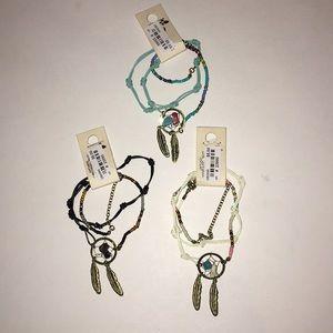 Jewelry - Set of 3 dream catcher wrap bracelets